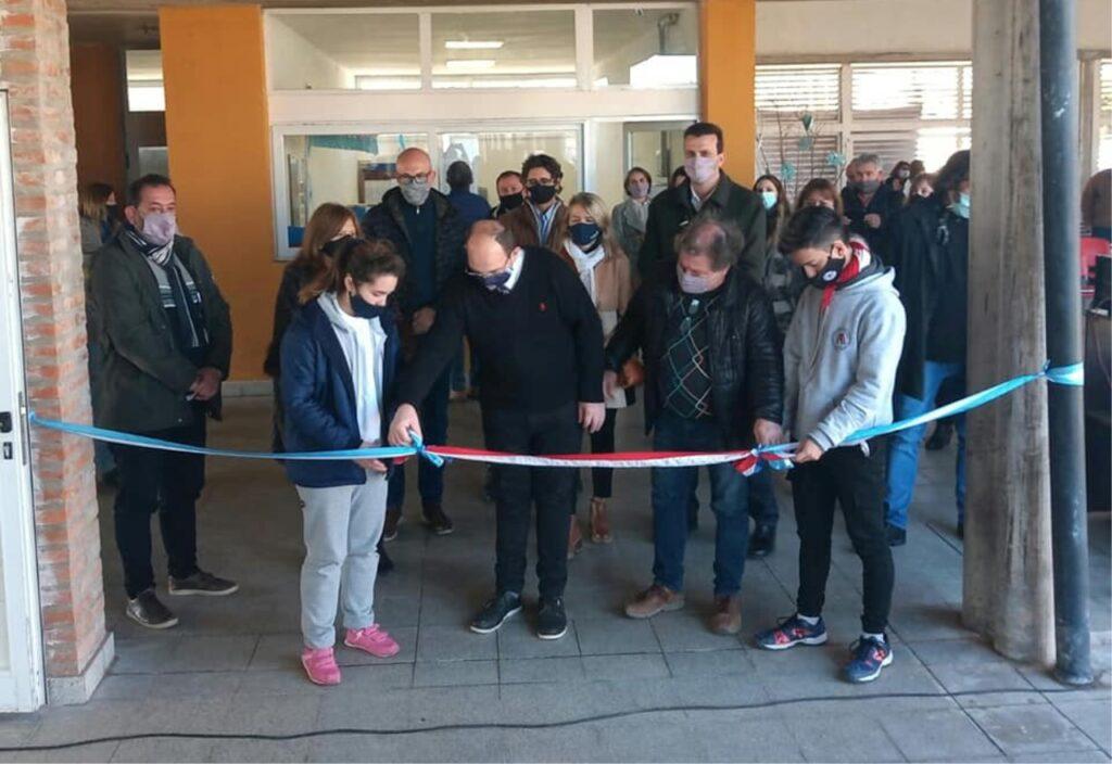 EMPALME. Inauguracion obras en escuela 2
